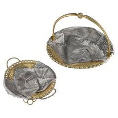 19thc Russian Solid Silver Trompe L'oeil Baskets by Pavel Ovchinnikov C.1893