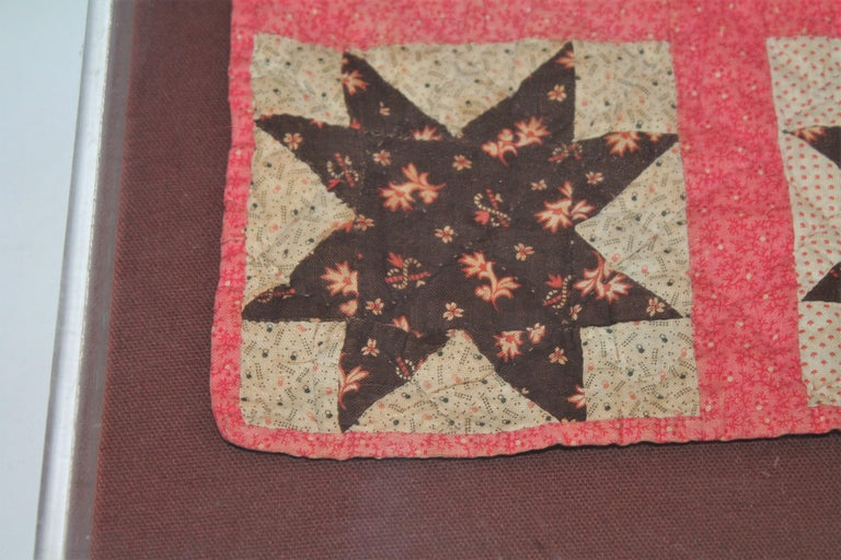 Country 19th Century Six Point Star Rare Doll Quilt For Sale