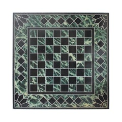 19th Century Slate Paint Decorated Game Board