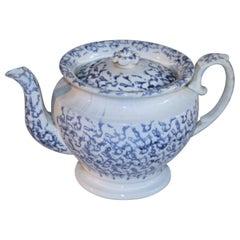 19Thc Spatter Ware Tea Pot