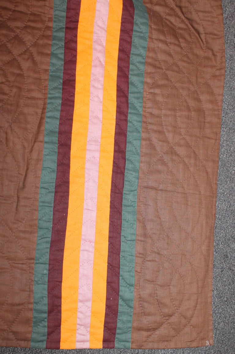 Adirondack 19th Century Split Bars Quilt from Pennsylvania For Sale