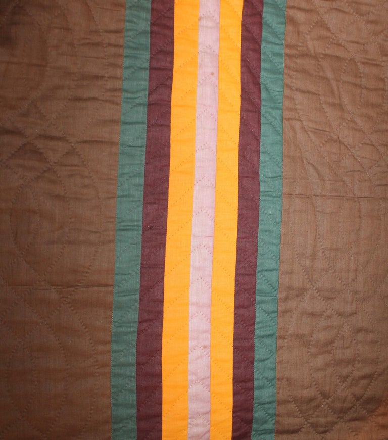American 19th Century Split Bars Quilt from Pennsylvania For Sale