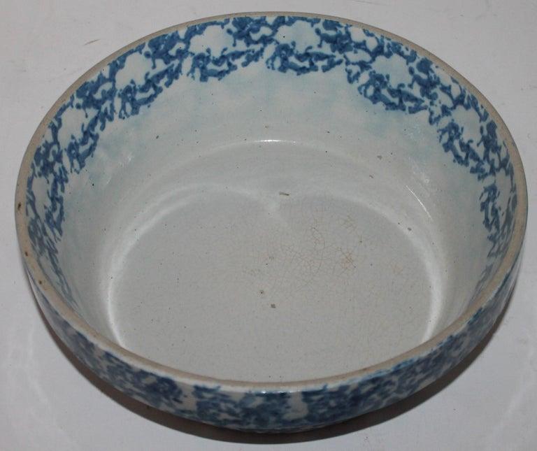 Adirondack 19th Century Sponge Ware Bake Dish For Sale