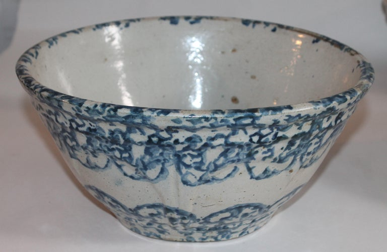 19th Century Sponge Ware Bowls Collection of Three In Good Condition For Sale In Los Angeles, CA