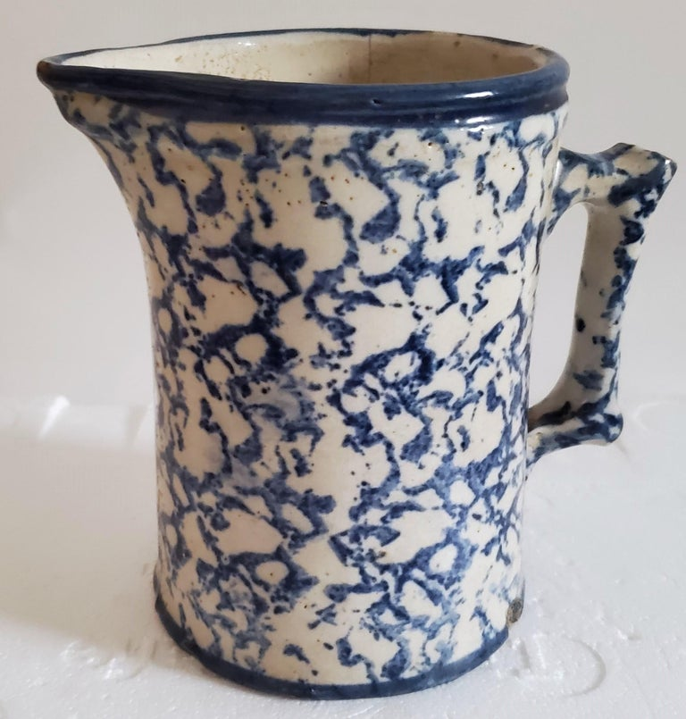 19th Century Sponge Ware Pottery, 3 Pieces For Sale 4