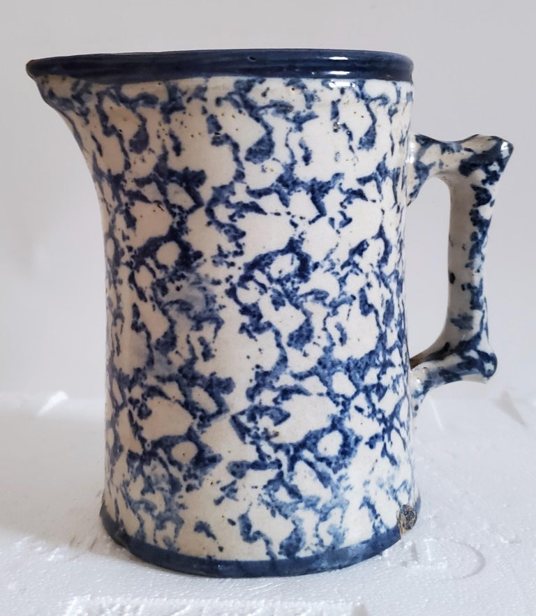 19th Century Sponge Ware Pottery, 3 Pieces For Sale 5