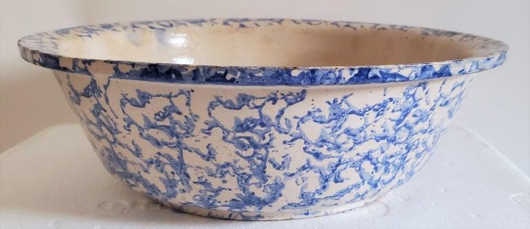 Adirondack 19th Century Sponge Ware Pottery, 3 Pieces For Sale
