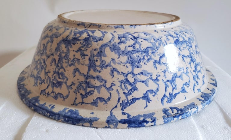 Hand-Crafted 19th Century Sponge Ware Pottery, 3 Pieces For Sale