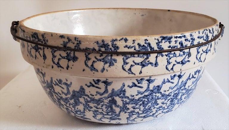 19th Century Sponge Ware Pottery, 3 Pieces For Sale 1