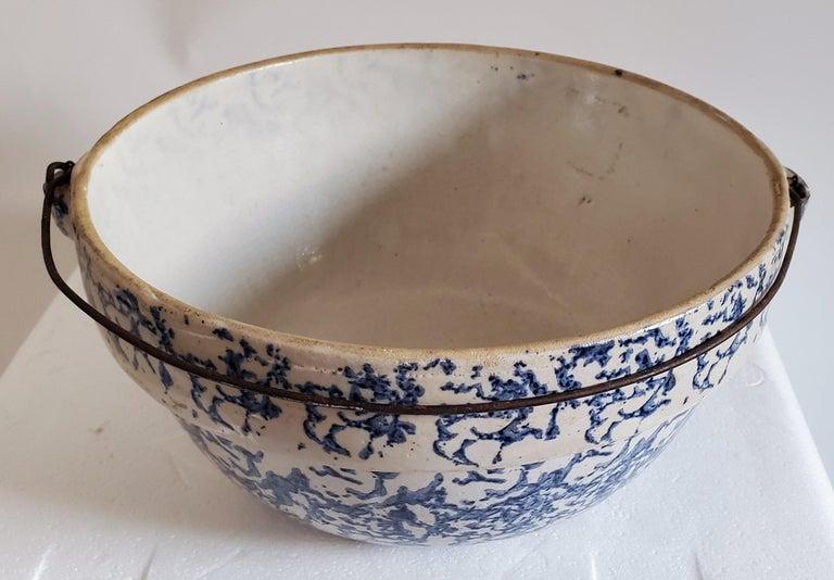 19th Century Sponge Ware Pottery, 3 Pieces For Sale 2