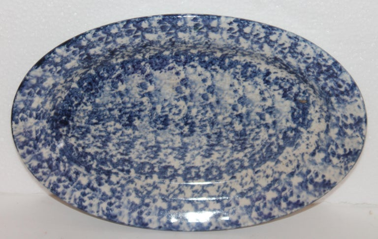19th Century Sponge Ware Serving Platters, 5 In Good Condition For Sale In Los Angeles, CA