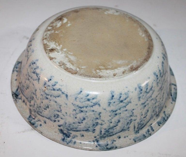 American 19th Century Spongware Bowl For Sale