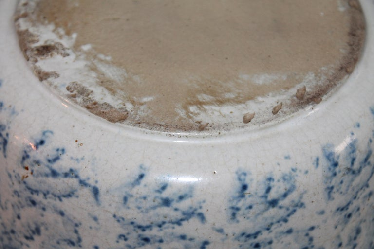19th Century Spongware Bowl In Good Condition For Sale In Los Angeles, CA