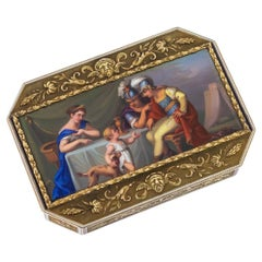 19th Century Swiss 18-Karat Gold and Enamel Snuff Box, circa 1800