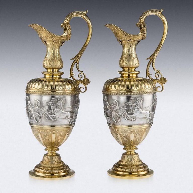 1 pair Victorian Ewers 1 singleton