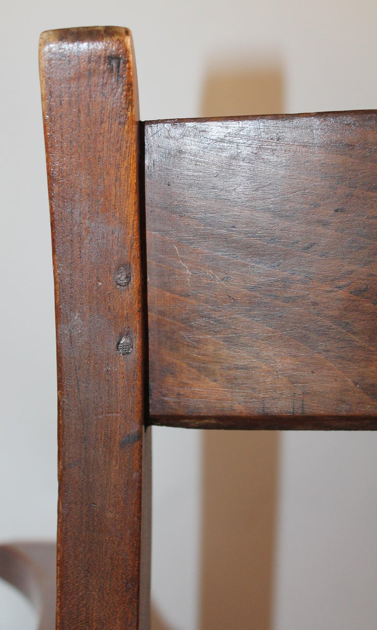 Wood 19th Century Walnut Office or Computer Chair For Sale