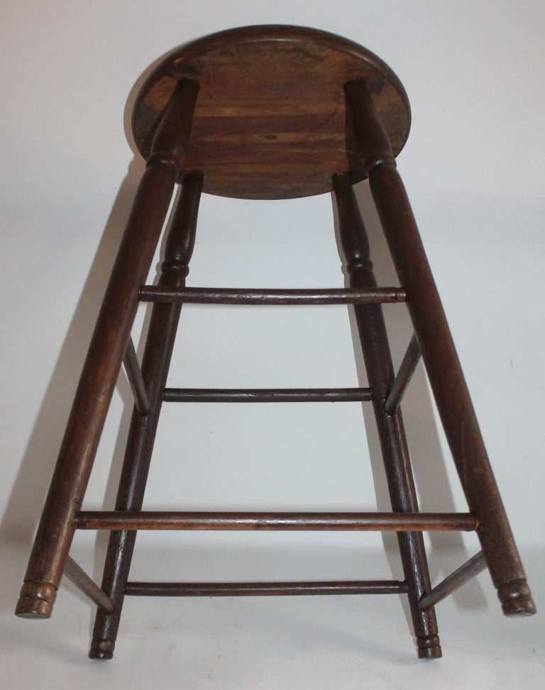 American 19th Century Weavers Stool in Natural Surface For Sale