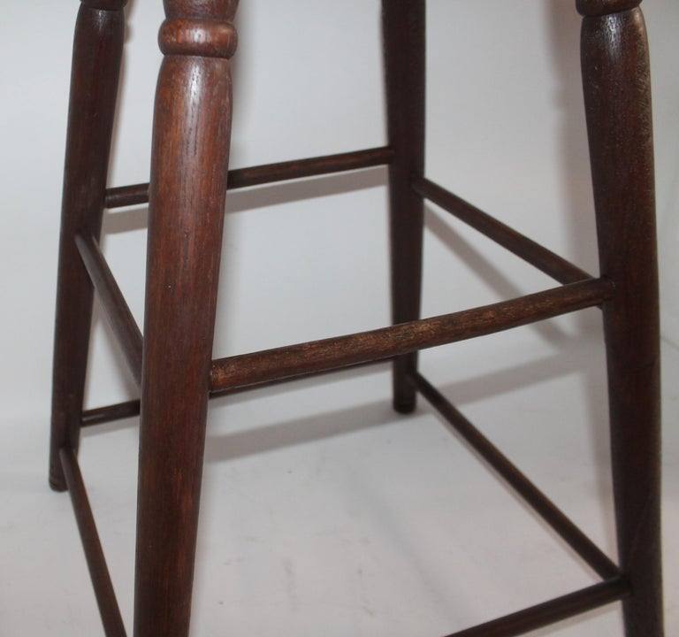 19th Century Weavers Stool in Natural Surface In Good Condition For Sale In Los Angeles, CA