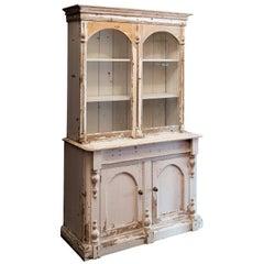 19th Century White Painted Pine Dresser