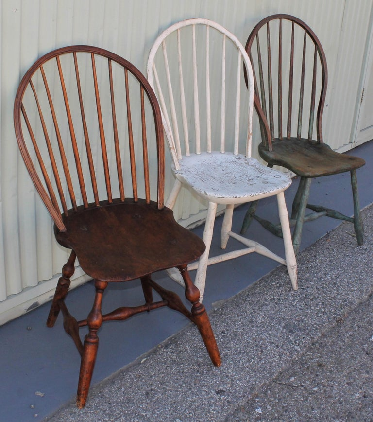 American 19th Century Windsor Chair Collection / 3 For Sale