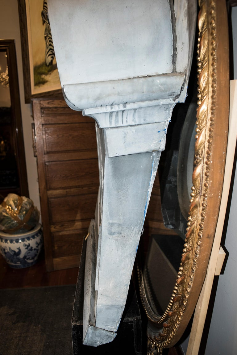 Late 19th Century 19th Century French Zinc Oeil De Boeuf or Mansard Original Napoleón III For Sale