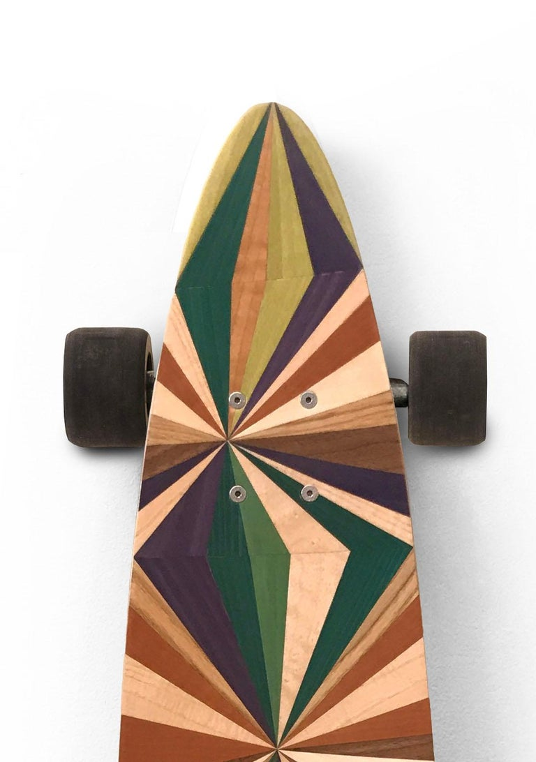 Welsh 1M Marquetry Pintail Longboard For Sale