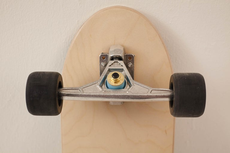 Contemporary 1M Marquetry Pintail Longboard For Sale