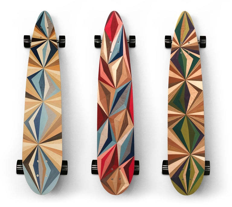 1M Marquetry Pintail Longboard For Sale 1