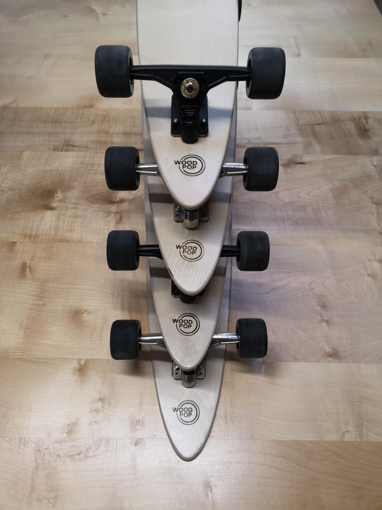 1M Marquetry Pintail Longboard For Sale 2