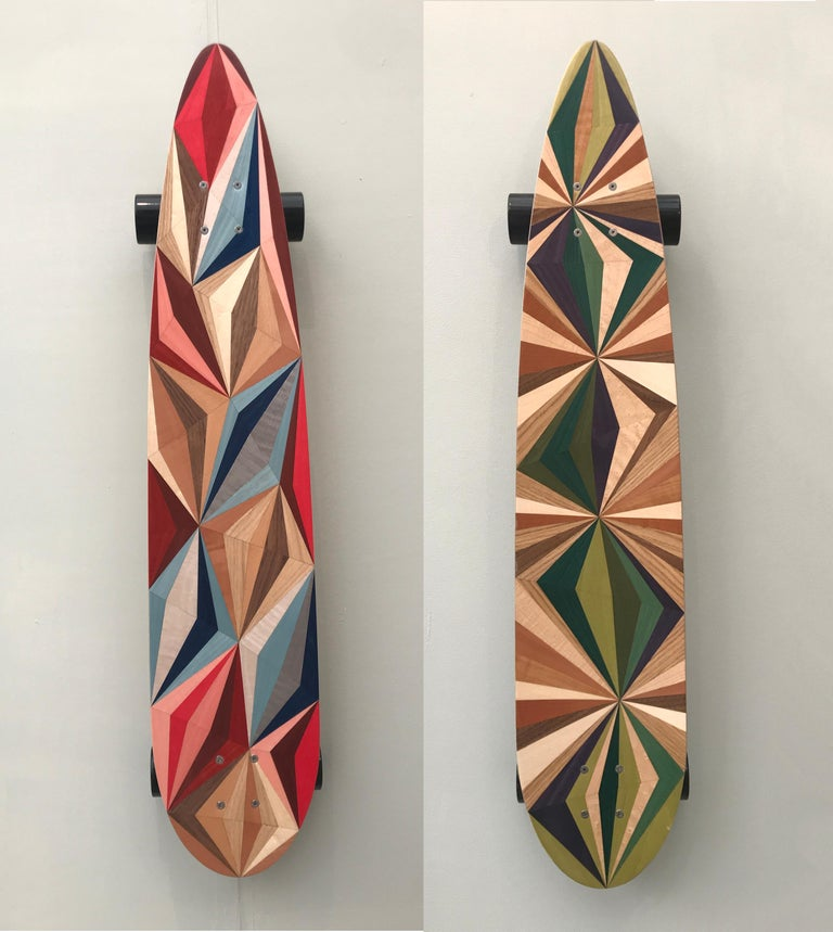 1M Marquetry Pintail Longboard For Sale 3