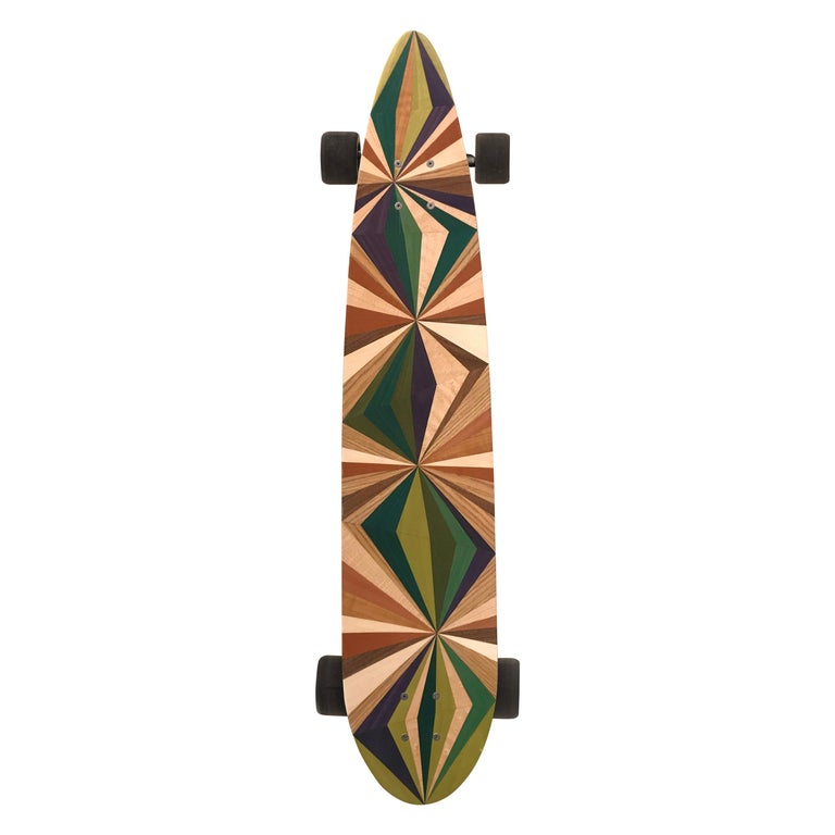1M Marquetry Pintail Longboard For Sale