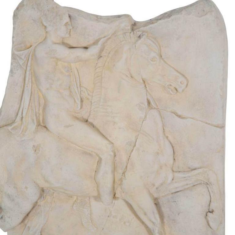 British 1st Century BC Greek Hellenistic Horseman Relief Cast Wall Plaque For Sale