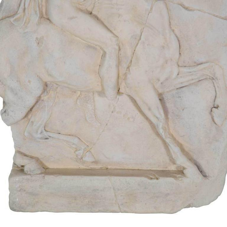 1st Century BC Greek Hellenistic Horseman Relief Cast Wall Plaque In Excellent Condition For Sale In Tetbury, GB