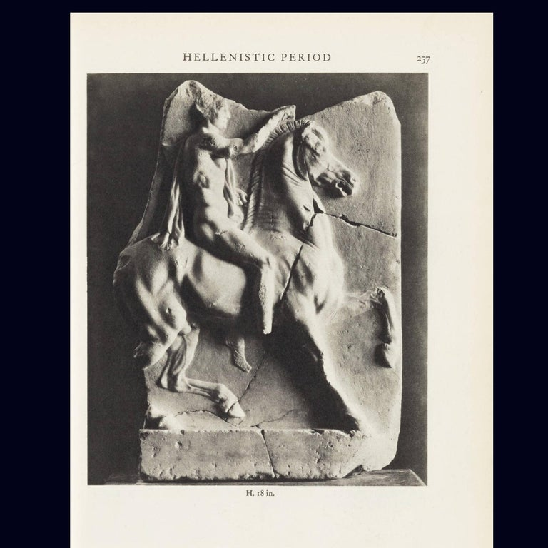 Contemporary 1st Century BC Greek Hellenistic Horseman Relief Cast Wall Plaque For Sale