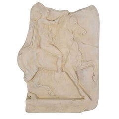 1st Century BC Greek Hellenistic Horseman Relief Cast Wall Plaque