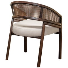 1st Century Rattan Spencer Dining Chair Walnut Wood
