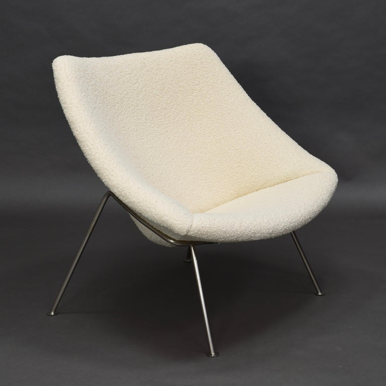 1st Edition Oyster Lounge Chair by Pierre Paulin Artifort New Upholstery, 1965 5
