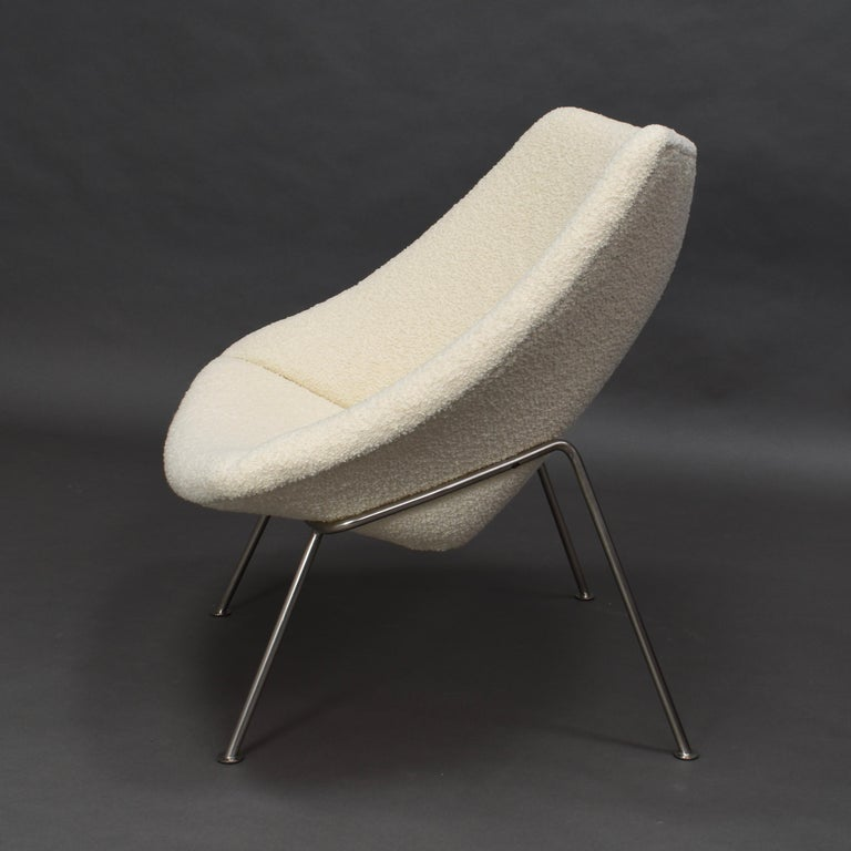 1st Edition Oyster Lounge Chair by Pierre Paulin Artifort New Upholstery, 1965 6