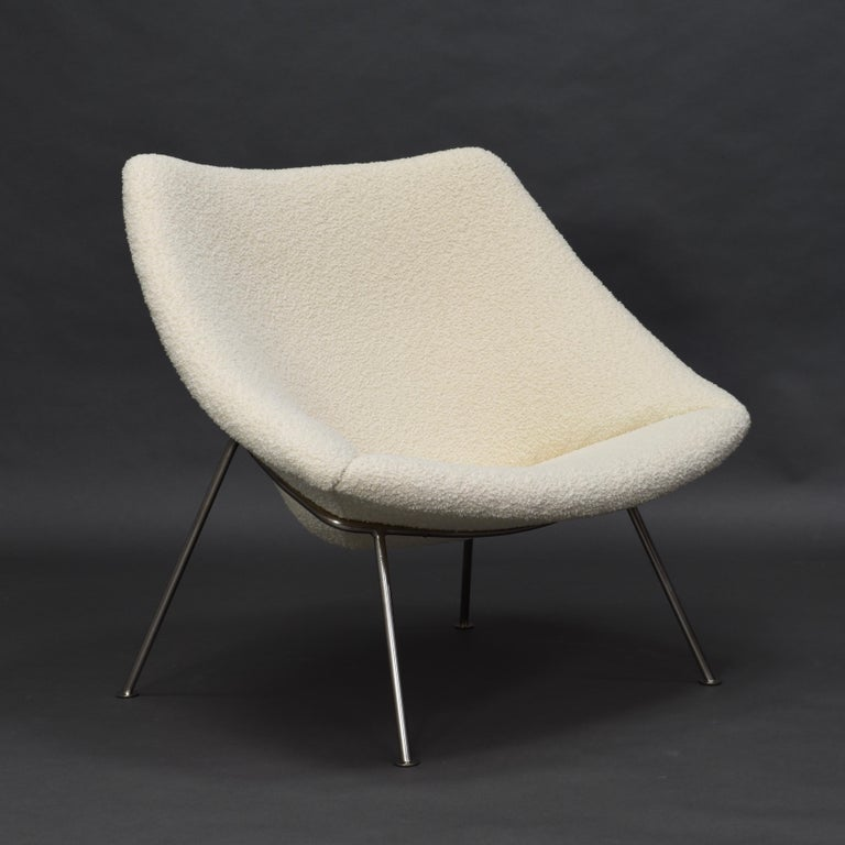 Dutch 1st Edition Oyster Lounge Chair by Pierre Paulin Artifort New Upholstery, 1965