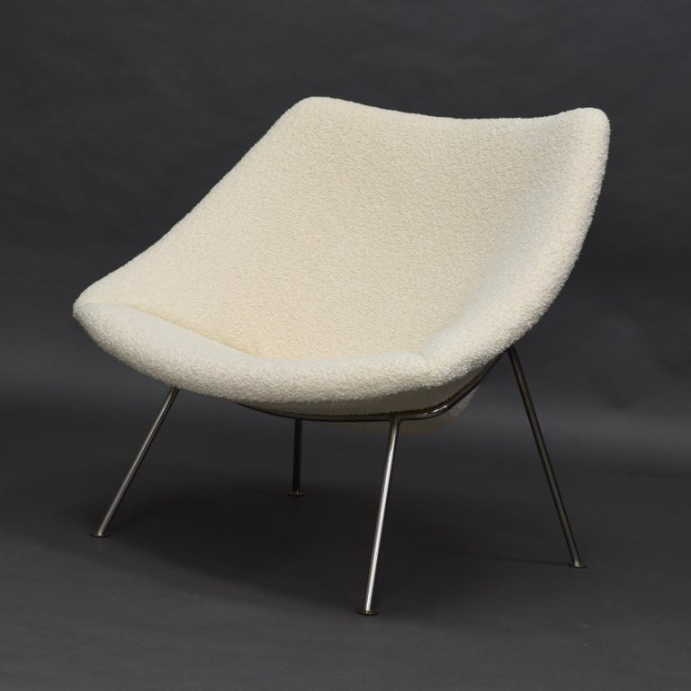 1st Edition Oyster Lounge Chair by Pierre Paulin Artifort New Upholstery, 1965 In Excellent Condition In Pijnacker, Zuid-Holland