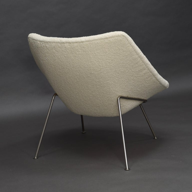 1st Edition Oyster Lounge Chair by Pierre Paulin Artifort New Upholstery, 1965 1