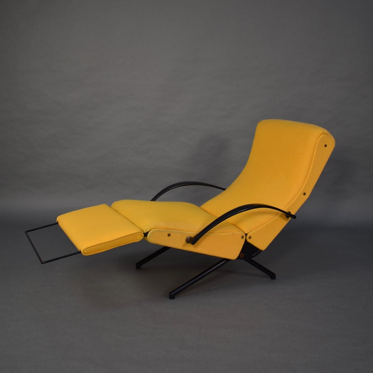 Mid-Century Modern First Edition P40 Lounge Chair by Borsani for Tecno, Italy, circa 1950 For Sale