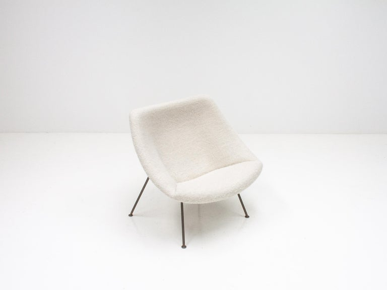 Metal 1st Edition Pierre Paulin F156 'Little Oyster' Lounge Chair in Pierre Frey 1960s For Sale