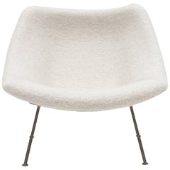 1st Edition Pierre Paulin F156 'Little Oyster' Lounge Chair in Pierre Frey 1960s