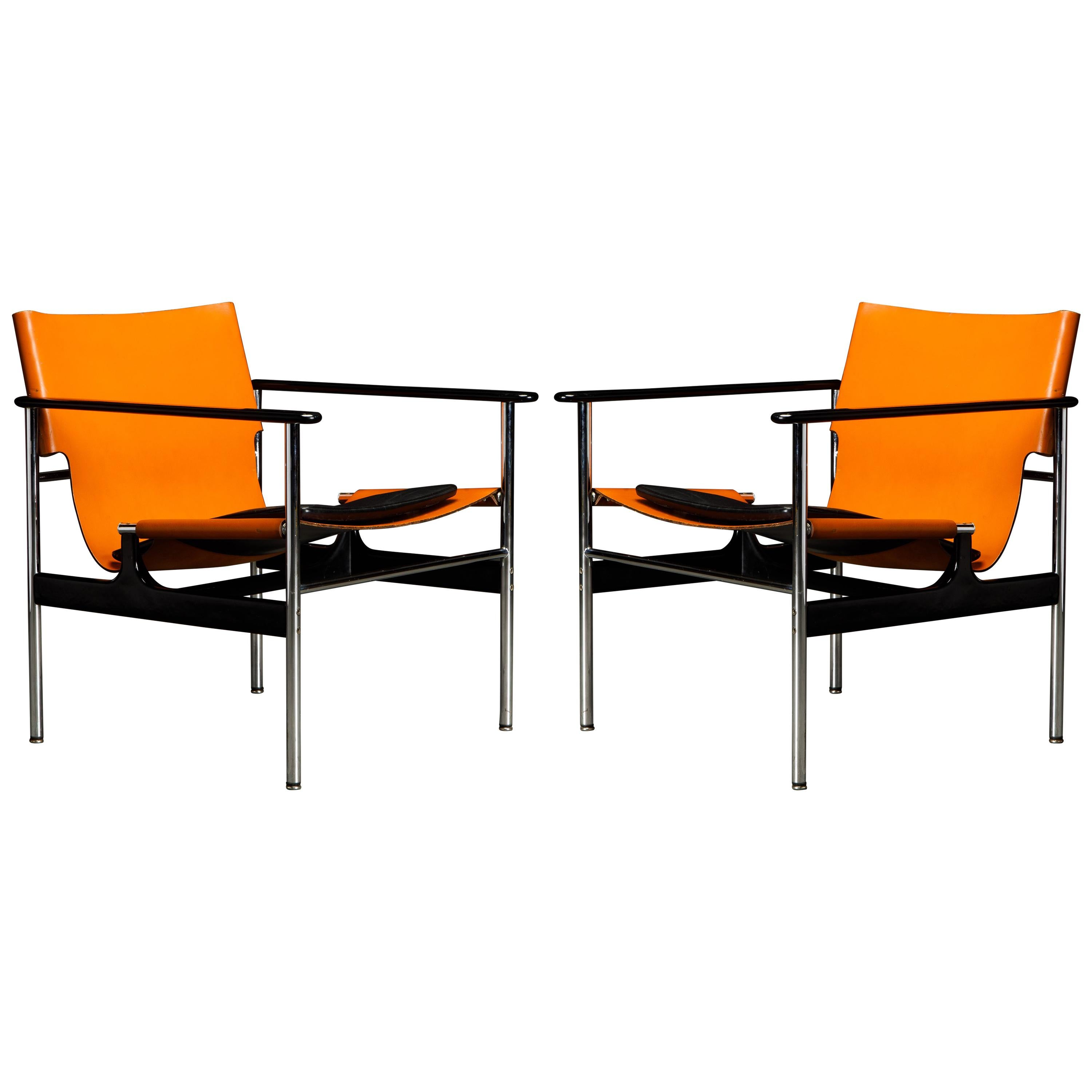 1st Generation '657' Armchairs by Charles Pollock for Knoll Associates, Signed