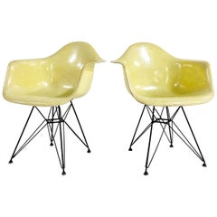 1st Generation Charles and Ray Eames Dar Chairs, Pair