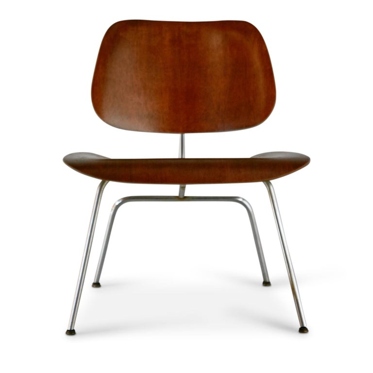 Yes, these are the first year originals of the design from 1946, a highly sought after and extremely collectible pair of Walnut LCM chairs by Ray and Charles Eames, manufactured by Evans Products Company, prior to Herman Miller which took over in