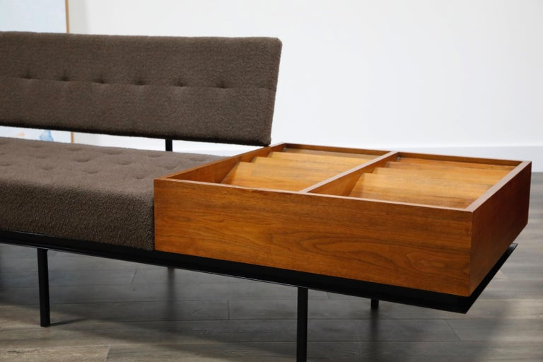 1st Generation Florence Knoll Model #578 Sofa by Knoll Associates, 1950s, Signed For Sale 3