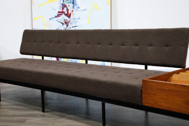 1st Generation Florence Knoll Model #578 Sofa by Knoll Associates, 1950s, Signed For Sale 4