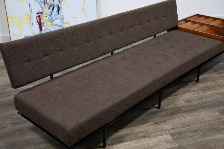1st Generation Florence Knoll Model #578 Sofa by Knoll Associates, 1950s, Signed For Sale 5
